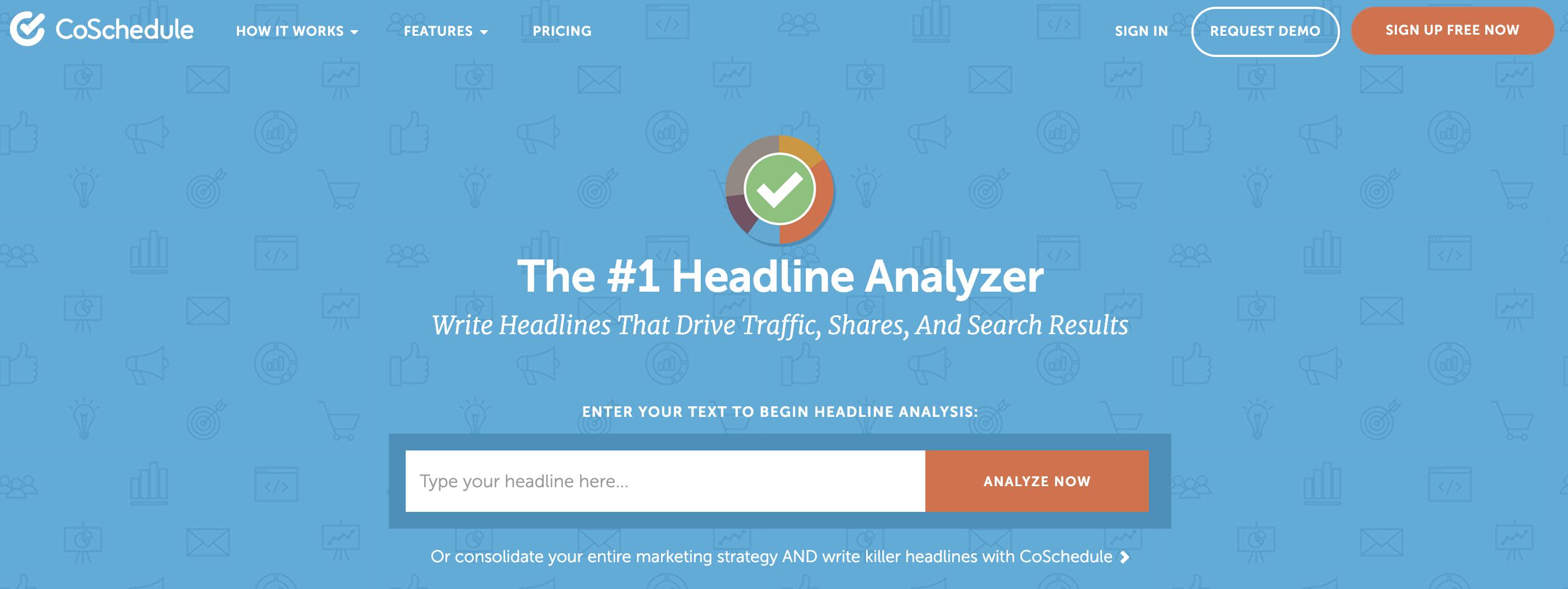 網路行銷工具:優化標題Headline analyzer