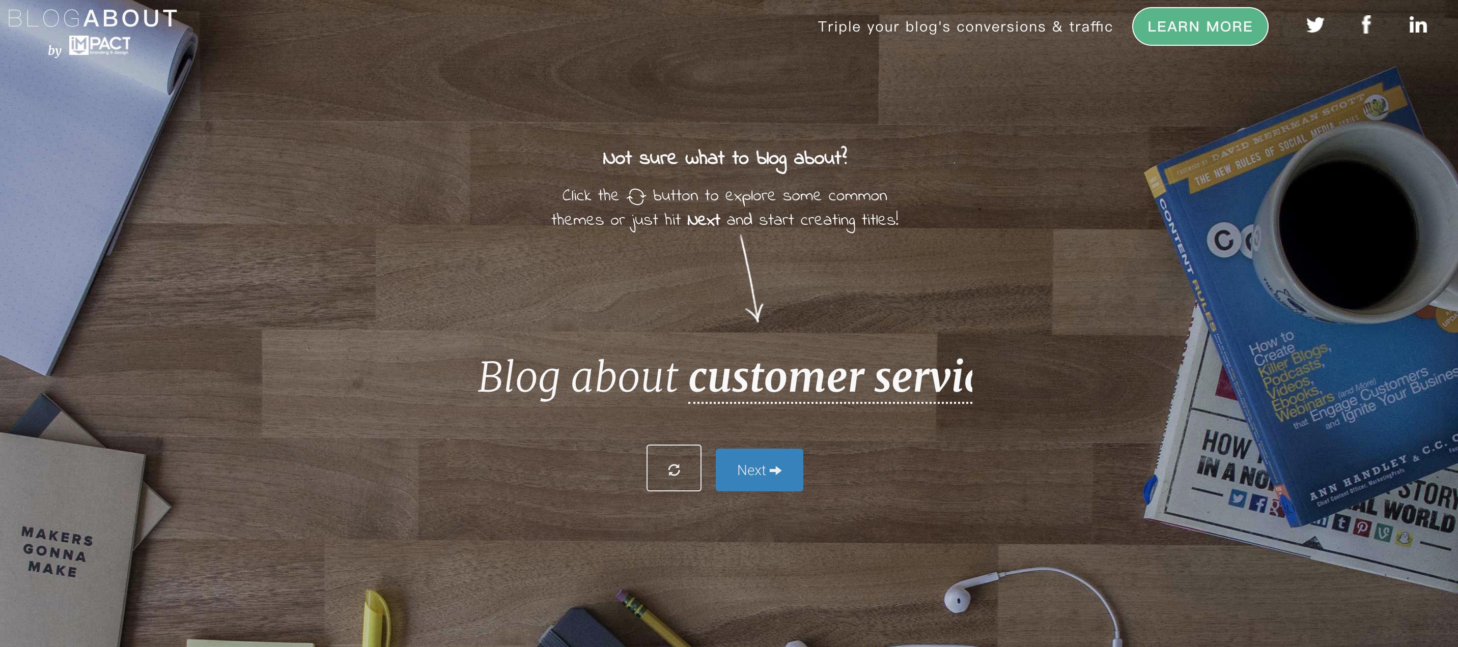 網路行銷工具:優化標題Impact-Blog About